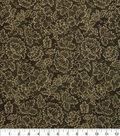Harvest Cotton Fabric 43\u0022-Gold Flowers