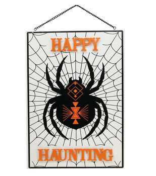 Maker's Halloween Wall Decor-Spider & Happy Haunting