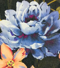 Modern Vintage Chiffon Fabric 57\u0027\u0027-Multi Floral on Black