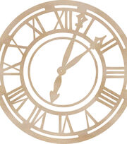Wood Flourishes-Roman Clock Face, , hi-res