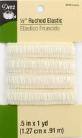 Dritz 1/2\u0022 Ruched Elastic Ivory 1Yd