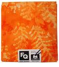 Quarters Assorted Batik Cotton Fabric-Harvest Orange