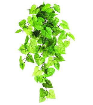 "28"" Potato Leaf Hanging Bush-Light Green"