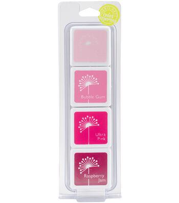 Hero Arts Dye Ink Cubes 4 Colors-May's Shades Of Pink