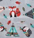 Novelty Cotton Fabric-Tossed Tribal Woodland