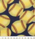Blizzard Fleece Fabric-Softball