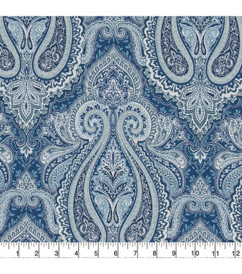 "Home Essentials 45"" Print Fabric-Tybar Panorama Indigo"
