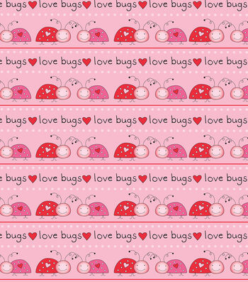 Valentine's Day Fabric 43''-Love Bugs