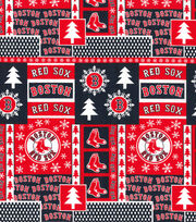 Boston Red Sox Cotton Fabric-Winter, , hi-res