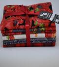 Pre-Cut Quilt Fabrics 18\u0022x21\u0022-Floral Poppy