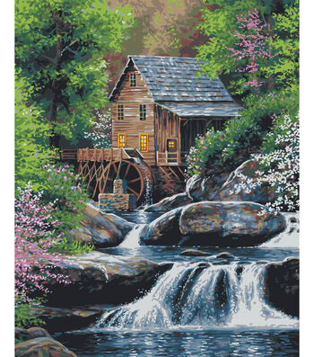 Plaid Creates Classic 16''x20'' Paint by Number Kit-Spring Mill