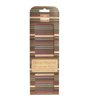 Trimcraft First Edition Multi Stripe Deco Mache Paper