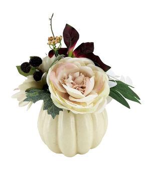 Blooming Autumn Small Dahlia & Rose Arrangement in Pumpkin-Blush