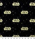 Star Wars Cotton Fabric 44\u0022-Metallic Logo