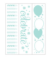 Park Lane 3 pk 1.4''x5.75'' Border Embossing Folders-Birthday, , hi-res