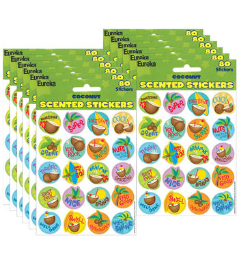 Coconut Scented Stickers 12 Packs