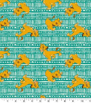 Disney Lion King Cotton Fabric-Simba Toss