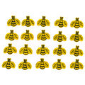 Jesse James Dress It Up Nature Tiny Bee Button Embellishments