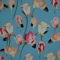 Silky Stretch Crepe Fabric 57\u0022-Light Blue Stems