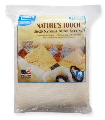 "Pellon Nature's Touch 80/20 Natural Blend Batting 90""x108"""