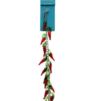 hildie & jo Red Chili Pepper Glass Strung Beads