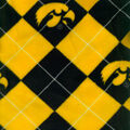 University of Iowa Hawkeyes Fleece Fabric -Argyle