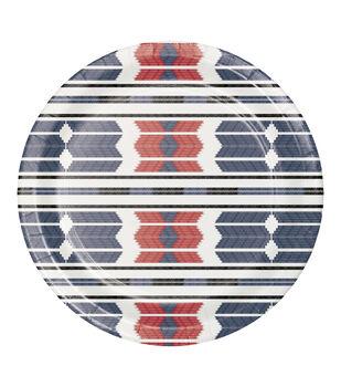 Camp Ann 8 pk 8.75''x8.75'' Dinner Plates-Aztec