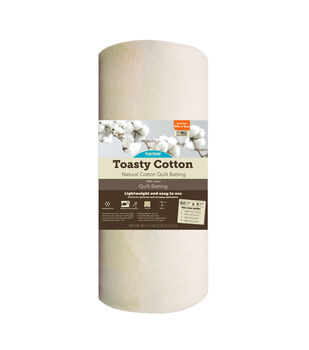 Fairfield Toasty 100% Natural Cotton Grab And Go Quilt Batting 90In X 6Yds