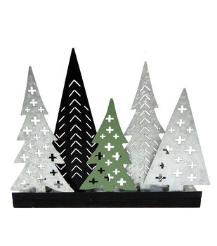 Handmade Holiday Metal Christmas Trees Candle Holder