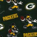 Green Bay Packers Fleece Fabric-Mickey