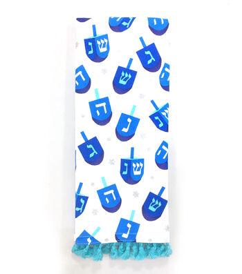 Hanukkah 16''x28'' Kitchen Towel-Dreidels