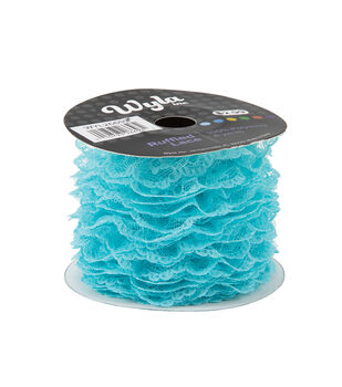 Wyla Colored Ruffled Lace-Blue Radiance 179