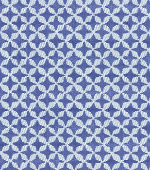 """Waverly Surat Stamp Upholstery Fabric 56""""-Prussian"""