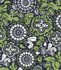 Quilter\u0027s Showcase Fabric -Navy & Green Floral Medallion