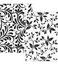 Gina K Designs Foil-Mates Background 5.5\u0022X8.5\u0022 10/Pkg-Bountiful Flourish