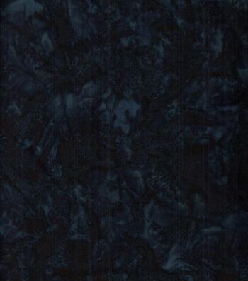 "Batik Cotton Fabric 44""-Deep Drk Blue Tonal"