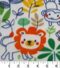 Anti-Pill Fleece Fabric 59\u0022-Sketched Jungle Friends