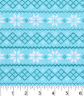 Snuggle Flannel Fabric -Snowflake Fair Isle Stripe
