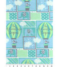 Nursery Flannel Fabric -Adventure Balloons