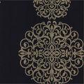 Iman Navy Medallion Wallpaper Sample