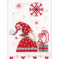 Vervaco Greeting Card DIY Counted Cross Stitch Kit-Christmas Gnomes