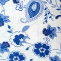 Snuggle Flannel Fabric -Princess Blue Paisley Floral