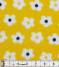Blizzard Fleece Fabric-Daisy On Yellow