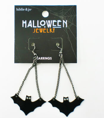 hildie & jo Halloween Bat Dangle Earrings