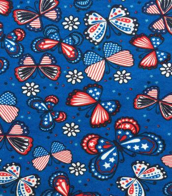 Doodles Interlock Knit Fabric 57''-Butterfly Freedom