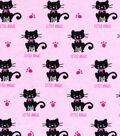 3 Yard Pre-Cut Snuggle Fabric 42\u0022-Little Angel Cat