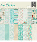 Authentique Sea-Maiden 24-sheets 12\u0027\u0027x12\u0027\u0027 Double-sided Cardstock Pad