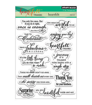 """Penny Black Clear Stamps 5""""X7""""-Heartfelt"""