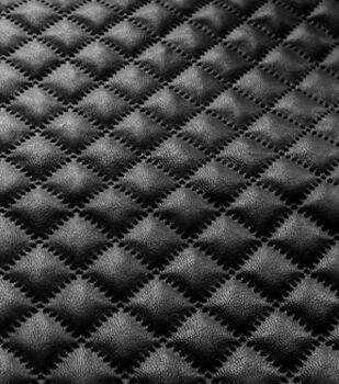 Suede Fabric -Black Foil