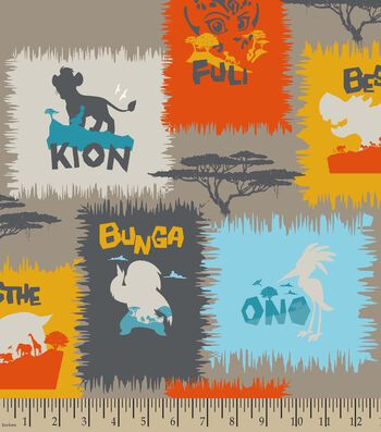 Disney The Lion Guard Print Fabric-Name Patch